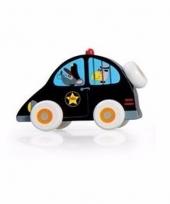 Houten speelgoed politieauto 10 cm trend