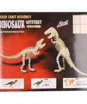 Houten tyrannosaurus dinosaurier bouwpakket trend