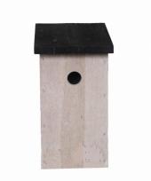 Houten vogelhuisje 27 cm trend