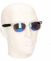 Houtlook heren zonnebril blauw model 7112 trend