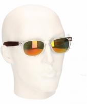 Houtlook heren zonnebril geel model 7112 trend