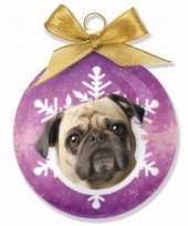 Huisdieren kerstballen hondjes mops trend