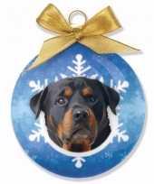 Huisdieren kerstballen hondjes rottweiler trend