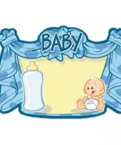 Huldebord blauw baby trend