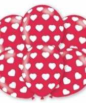 Huwelijk ballonnen hartjes 6 stuks trend