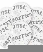 Huwelijk ballonnen just married 6 st trend