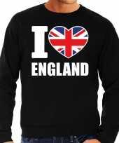 I love england sweater trui zwart voor heren trend