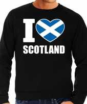 I love scotland sweater trui zwart voor heren trend
