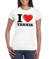 I love tennis t-shirt wit dames trend