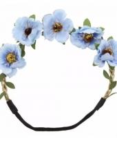 Ibiza stijl haarbandjes met blauwe bloemen trend