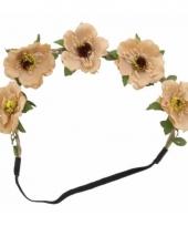 Ibiza stijl haarbandjes met bruine bloemen trend
