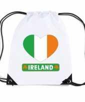 Ierland hart vlag nylon rugzak wit trend