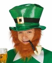 Ierse groene hoed met pailletten trend