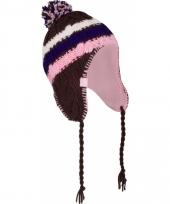 Inca wintermuts paars roze trend