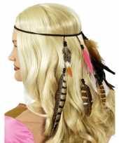 Indianen hoofdband met veren trend