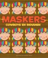 Indianen kleurmaskers 10 stuks trend