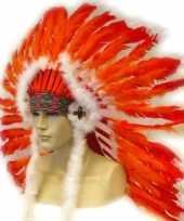 Indianen veren tooien rood oranje trend