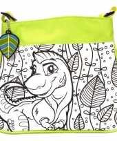 Inkleurbare dinosaurus tas voor kinderen trend
