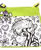 Inkleurbare zebra tas voor kinderen trend