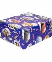 Inpakpapier cadeaupapier disney cars 200 x 70 cm blauw trend