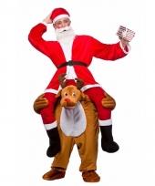 Instap kostuum kerstman op rendier trend