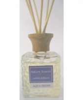 Interieur parfum met geurolie met stokjes aqua fresh 80 ml trend
