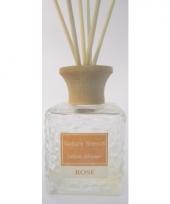 Interieur parfum met geurolie met stokjes rozen 80 ml trend
