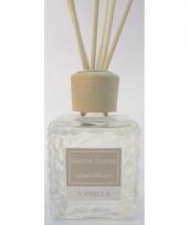 Interieur parfum met geurolie met stokjes vanille 80 ml trend