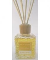 Interieur parfum met geurolie met stokjes zonnebloem 80 ml trend