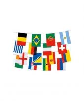 Internationale landen vlaggenlijn 9 meter trend