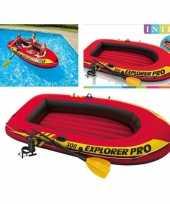 Intex opblaas boot met peddels en pomp 244 cm trend