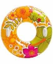 Intex zwemband oranje met bloemen 97 cm trend