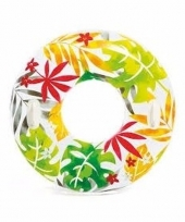 Intex zwemband wit met bladeren 97 cm trend