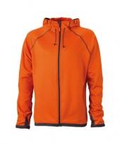 James nicholson fleece vest oranje voor heren trend