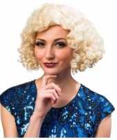 Jaren 20 30 40 en 50 blonde dames pruik trend