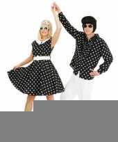 Jaren 50 rock n roll jurk zwart wit trend