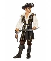 Jongens piraten kostuum bruin trend