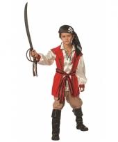 Jongens rood piraten kostuum trend