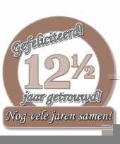 Jubileum borden 12 5 jaar getrouwd trend