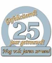 Jubileum borden 25 jaar getrouwd trend