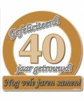 Jubileum borden 40 jaar getrouwd trend