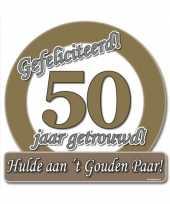 Jubileum borden 50 jaar getrouwd trend