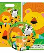 Jungle thema kinderfeestje versiering pakket 2 8 personen trend