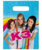 K3 feest uitdeelzakjes feestzakjes 16x stuks trend