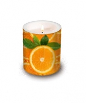 Kaars met sinaasappel afbeeldingen trend
