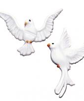 Kaars versiering witte duif trend
