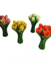 Kaarsen in de vorm van tulpen 22cm trend