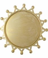Kaarsen onderbord goud 16 cm trend