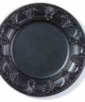 Kaarsenbord plateau zwart extravagant 33 cm rond trend