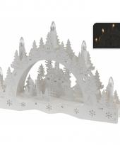 Kaarsenbrug met dorp voor vensterbank trend 10066152